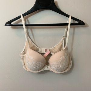 Victoria's Secret : Lined Demi 34B Beige Lace